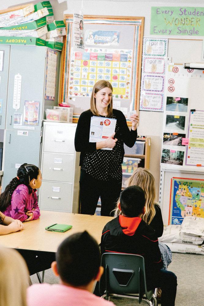 Camille Jones teaching students in classroom