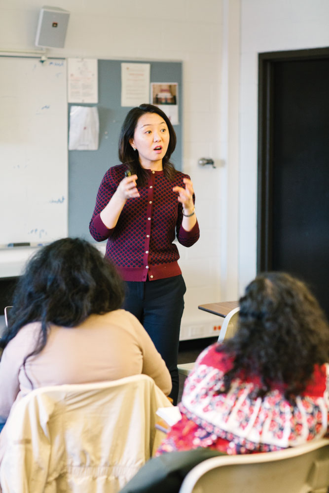 Associate Professor of Counselor Education June Hyun teaching students