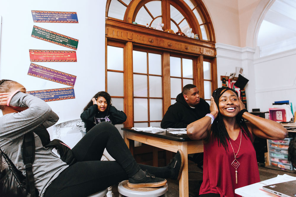 Envision Academy high school students explore the physics of sound