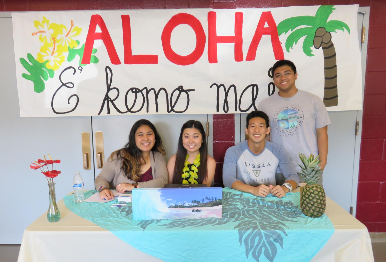 Members of the Hawaii club at the SPU gymnasium