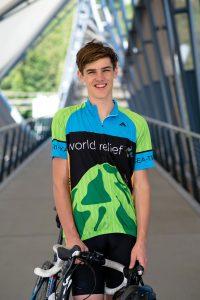 Garrett Berkey with his bike