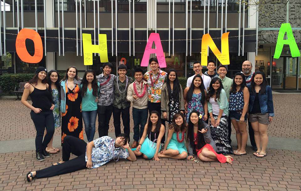 Members of the Hawaii Club gather at SPU