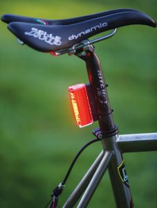 The Orfos Flare lamp on a bike