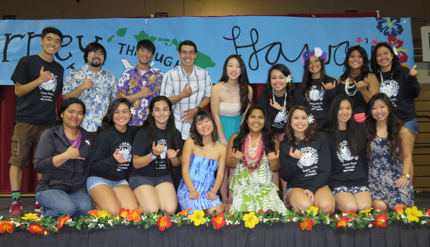 Members of the Hawaii club at Seattle Pacific University