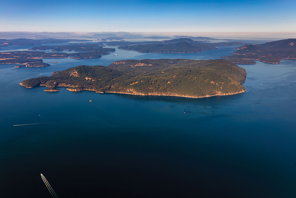Blakely Island as seen from the air.