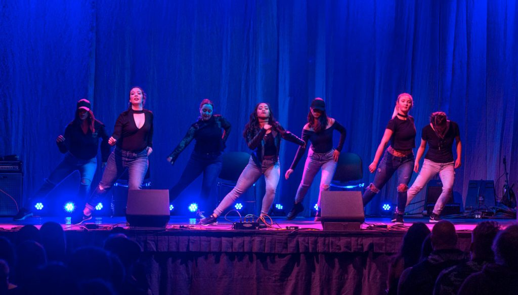 student dancers at SPU talent show