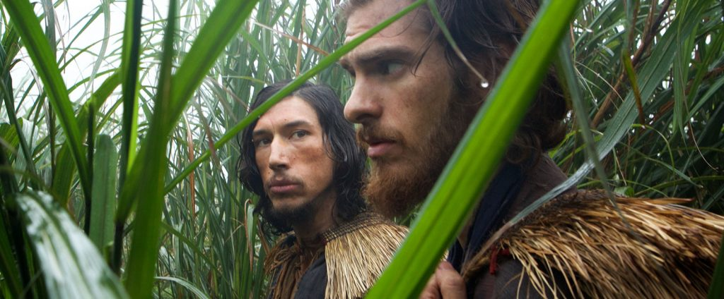 adam driver and andrew garfield in the film silence