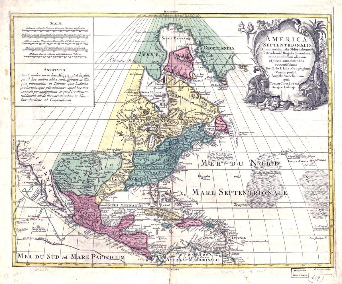 """Map, """"America Septentrionalis"""""""