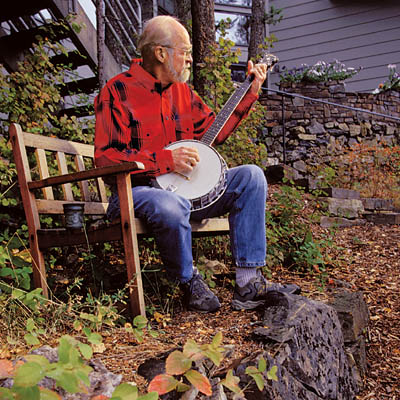 eugene peterson playing a banjo