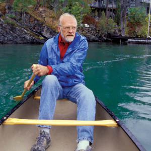 eugene peterson steers a canoe