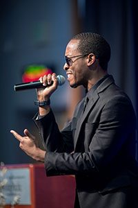 Philip Jacobs performs at the 2019 Alumni Awards Dinner