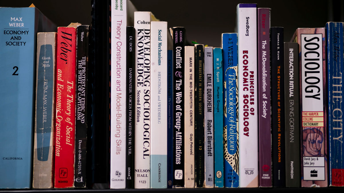 shelf of books