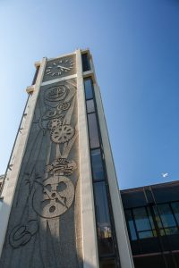 Demaray Hall clock tower