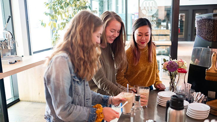 SPU students get coffee at La Marzocco