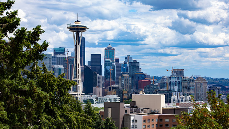 Downtown Seattle, as seen from Kerry Park