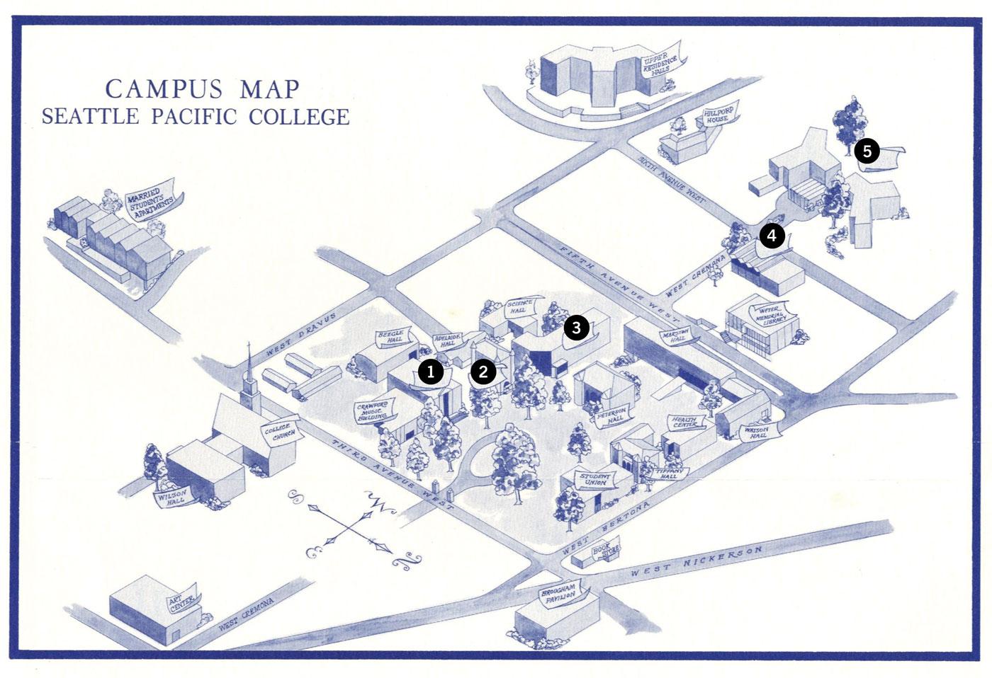 campus map 1966