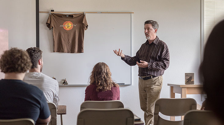 Jeffrey Overstreet teaching | photo by Dan Sheehan