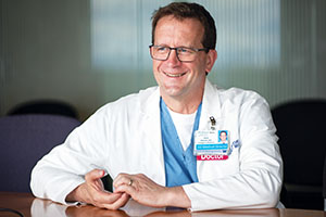 Dr. Steven Mitchell, emergency department director and regional COVID-19 response director, at Harborview Medical Center, in Seattle, Washington, on May 12, 2020. ©2020 Eugene Lee/Response Magazine