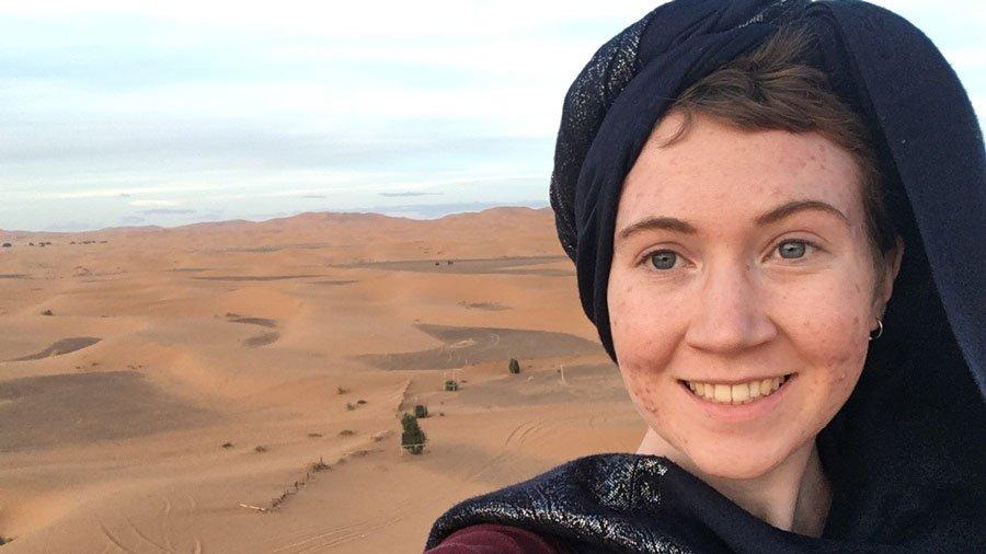 Olivia in Morocco