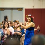 SPU student performs at the Hawaii club luau