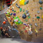 SPU students climbing