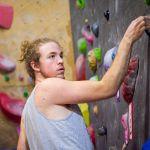 Tobijah Rogers indoor rock climbing