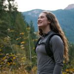 SPU student looks up Granite Mountain trail
