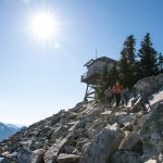 hikers descend from Granite Mountain lookout