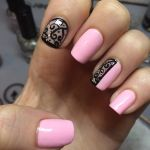 lacy and pink nail polish design