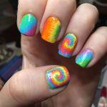 tie dye nail polish design