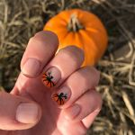pumpkin themed nail design