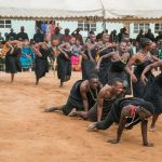 Members of the Upendo group from Wangama, a rural area in southern Tanzania, perform on the festival's last day.
