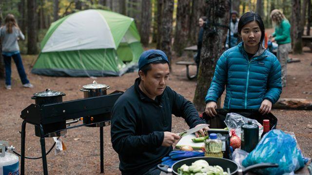SPU Outdoor Recreation Program students prepare food